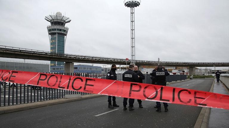 Avspärrad flygplats