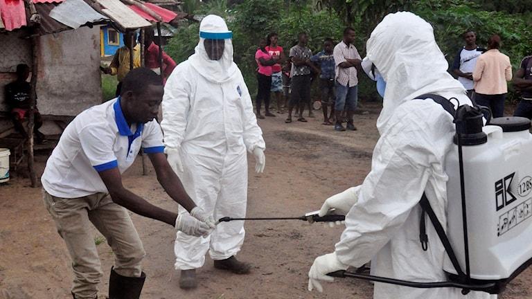 Ett av länderna som drabbades i Västafrika var Liberia.