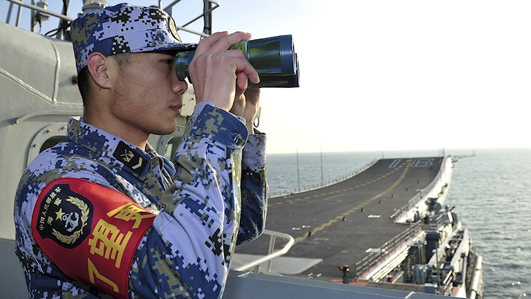 Kina har nu under lång tid rustat upp och moderniserat sina militära styrkor, i synnerhet landets flotta. Foto: AP