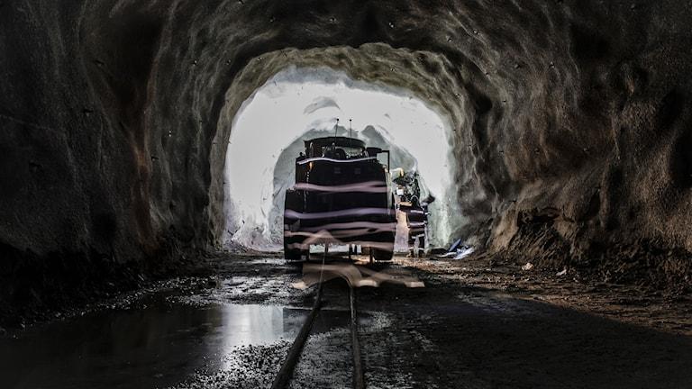 Interiör från LKAB:s gruva i Malmberget Foto: Carl-Johan Utsi/TT.