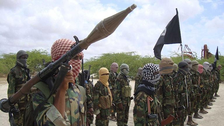 Al-Shabaab-soldater Foto: Farah Abdi Warsameh/TT
