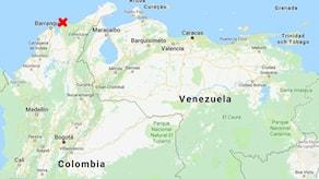 Santa Marta utpekat på karta över Colombia