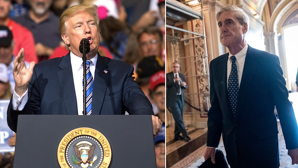 Robert Mueller och Trump.