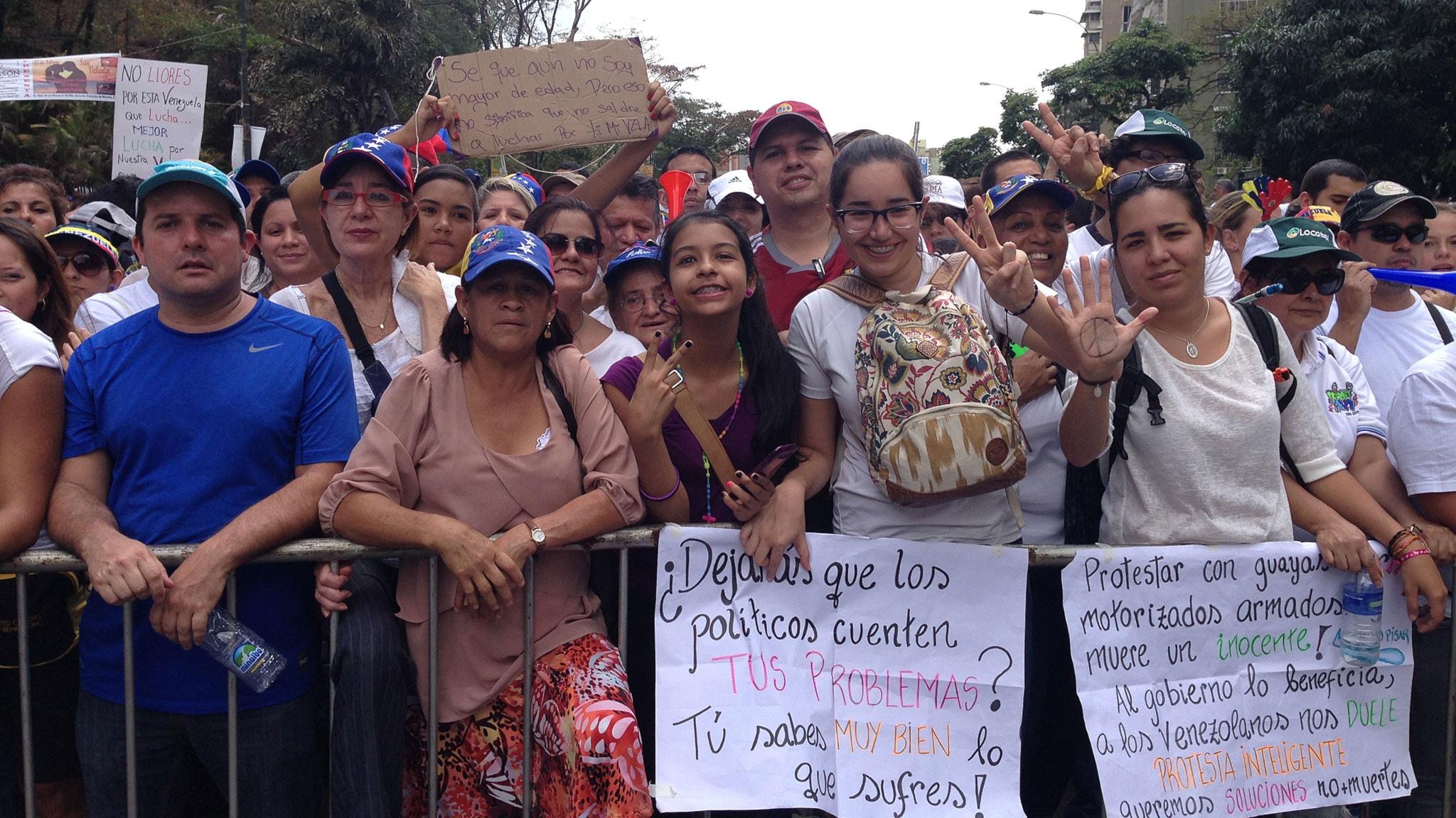 Flera skadade i protester i caracas