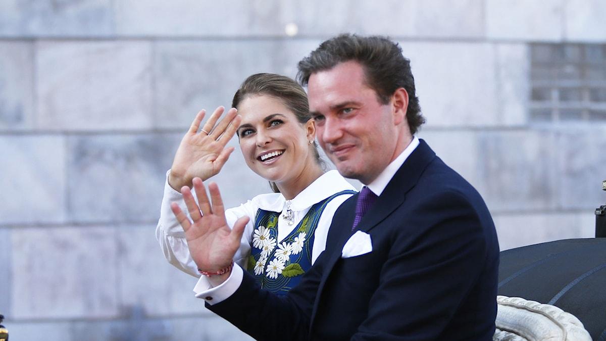 Prinsessan Madeleine och Chris O'Neill. Foto: Lise Åserud /TT sz3d4f8a