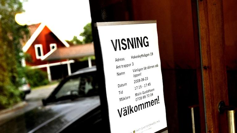 Lägenhet till salu vid Hakeskyttvägen 19 i Älvsjö. Foto: Ingvar Karmhed /TT sx6f9da6