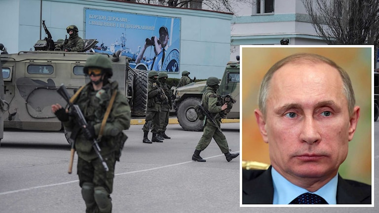 Putin är beredd ätt ingripa militärt Foto: Andrew Lubimov/Mikhail Metzel/TT