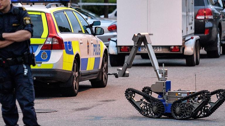 Polisens bombrobot.