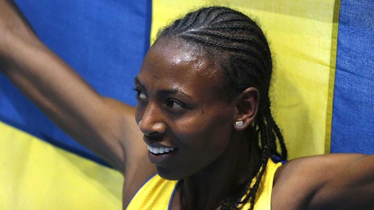 Abeba Aregawi vid inomhus-VM i Sopot.