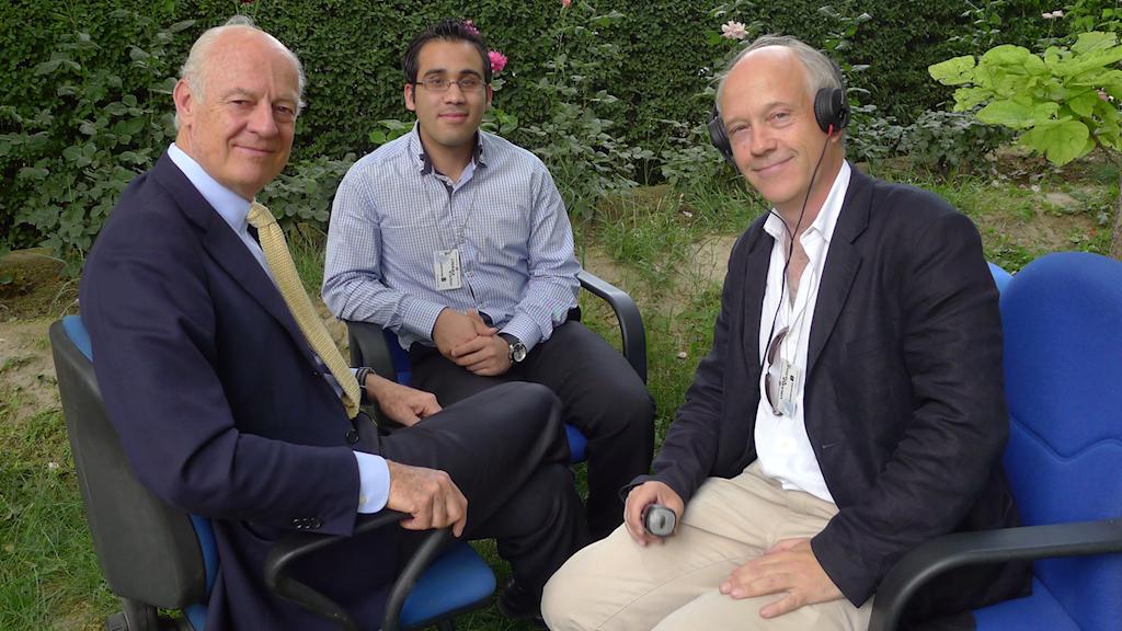 Nils Horner i livesändning från Kabul, maj 2010. Foto: Sveriges Radio.