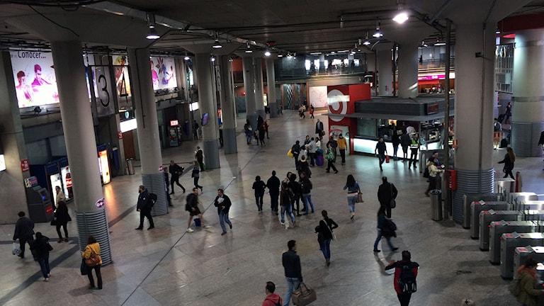 Järnvägsstationen Atocha i Madrid