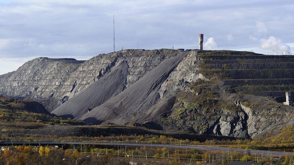LKAB:s gruva i Kirunavaara.