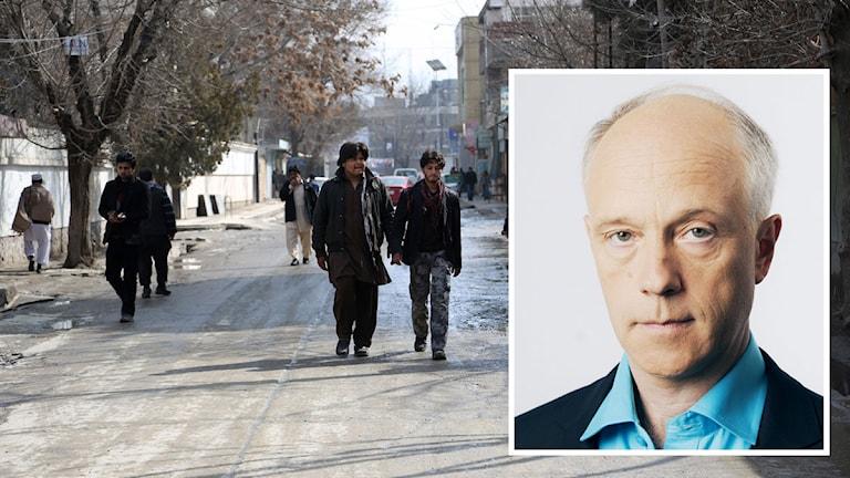 Gatan där Nils Horner dödades Foto: Rahmat Gul/TT Mattias Ahlm/Sveriges Radio