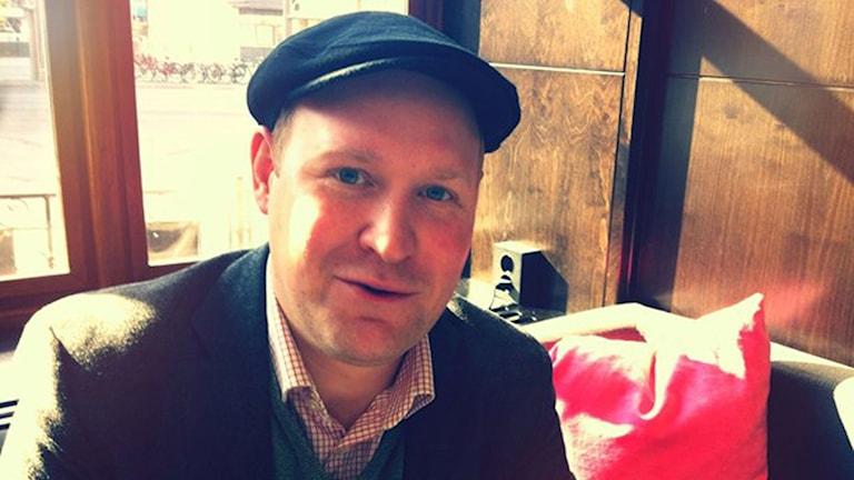 Skådespelaren och komikern Henrik Dorsin. Foto: Karin Forsmark.