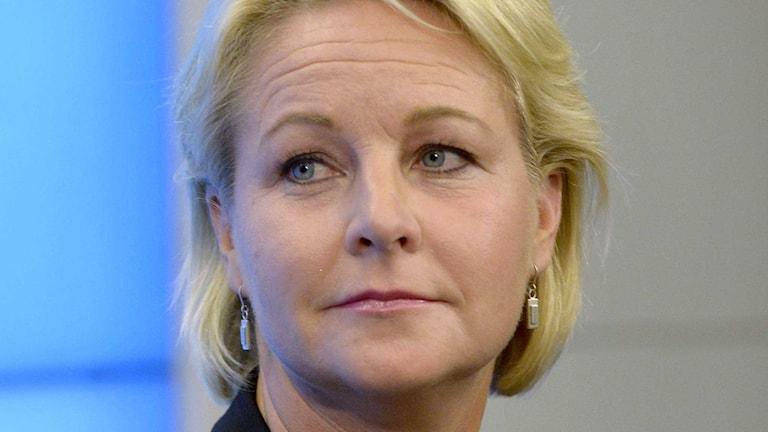 Biståndsminister Hillevi Engström.