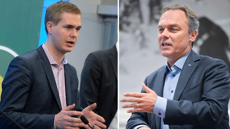 Gustav Fridolin (MP) och Jan Björklund (FP).