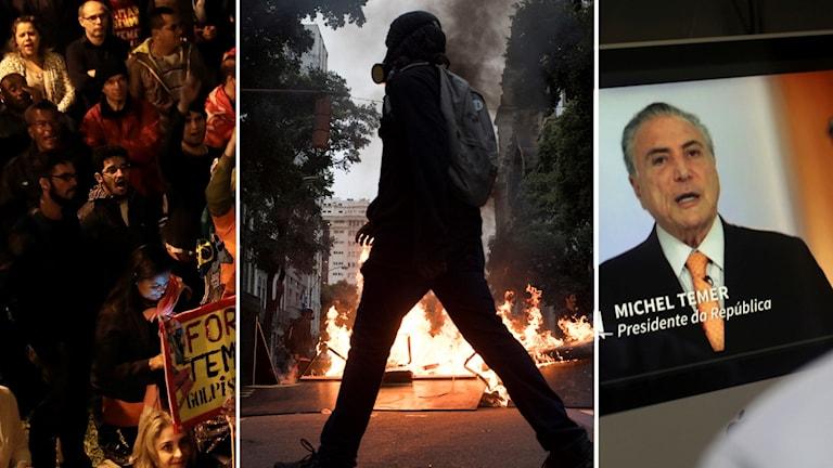 Protester i Brasilien