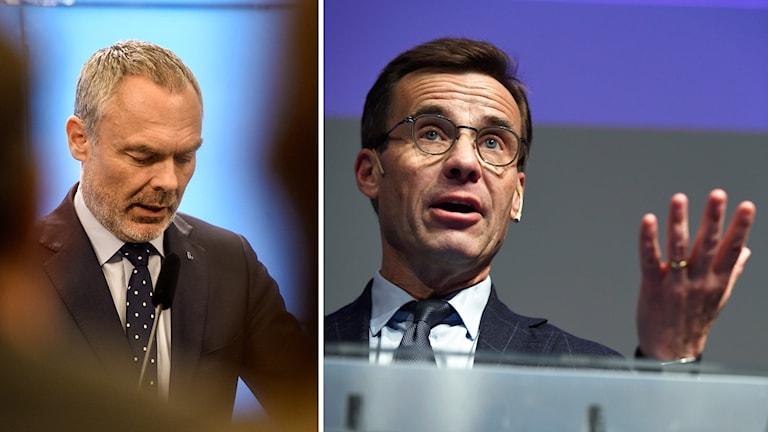 Liberalernas Jan Björklund och Moderatledaren Ulf Kristersson.