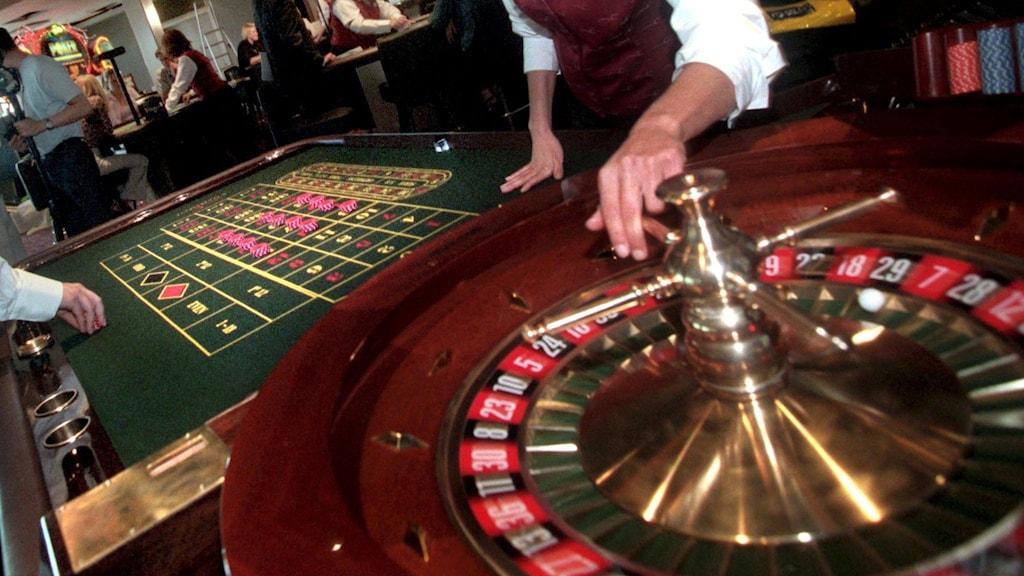 Ett roulettebord på ett casino.