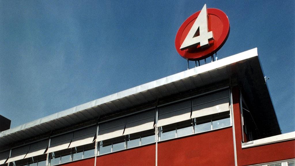 Exteriör på TV4 huset i Stockholm.