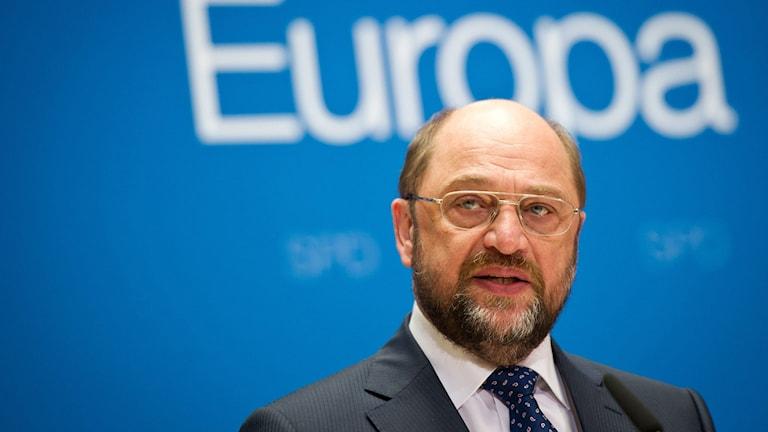 Martin Schulz, talman i EU-parlamentet. Foto: Daniel Naupold/pictur/AP/TT.