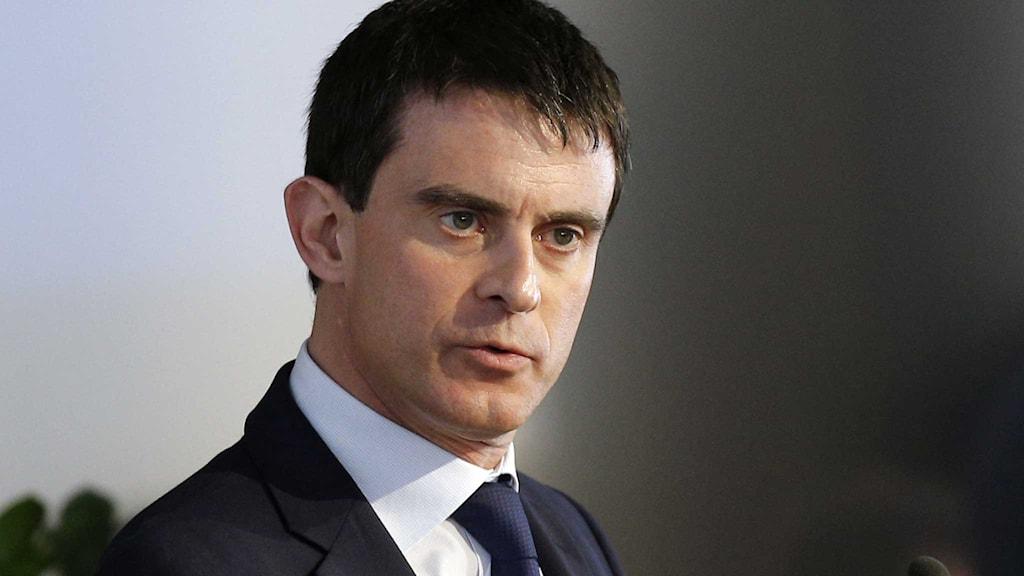 Frankrikes premiärminister Manuel Valls