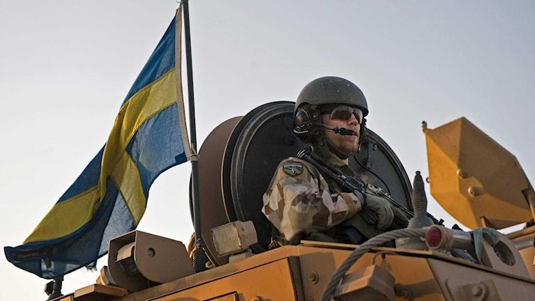 Den svenska insatsen 2015 ska bestå av 50 personer som ska ge utbildning och rådgivning till afghanska armén. Foto: Henrik Montgomery/TT.