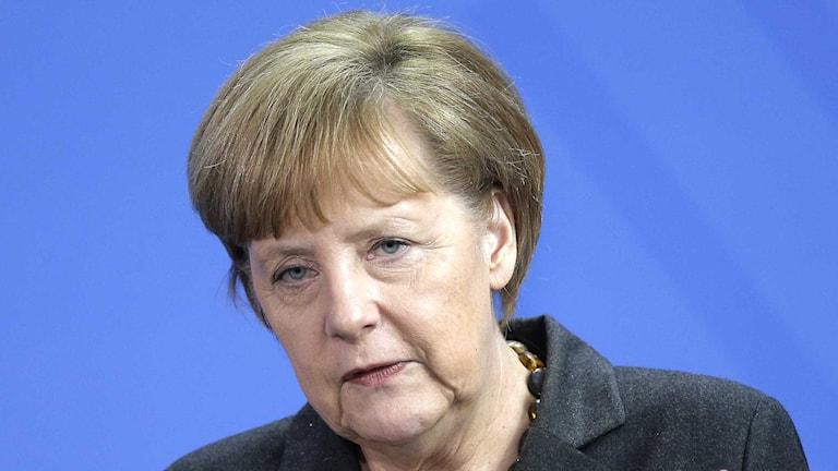 Tyskland förbundskansler Angela Merkel höjer nu tonen mot Ryssland.