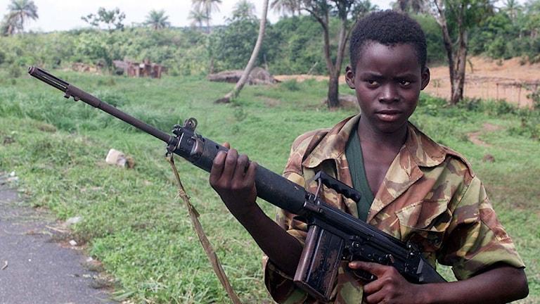 Barnsoldat från Sierra Leone