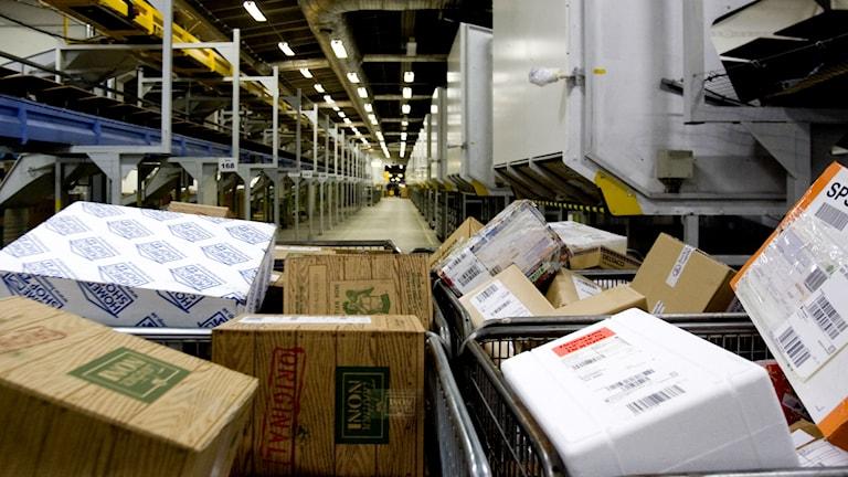 Comvic har infört en avgift när man hämtar sitt paket för att förebygga id-kapningar. Foto: Pontus Lundahl/TT