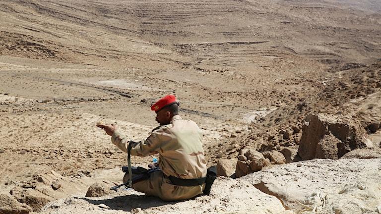 Soldat i Jemen.