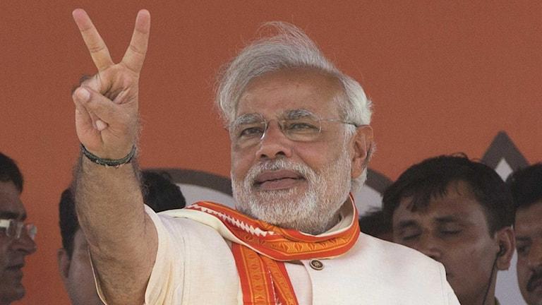 Många har stora förhoppningar på partiet BJP:s premiärministerkandidat Narendra Modi.
