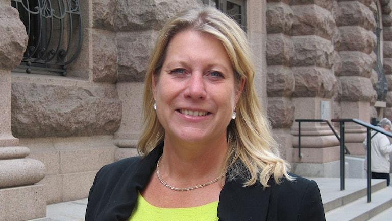 Infrastrukturminister Catharina Elmsäter-Svärd. Foto: Maria Repitsch/Sveriges Radio.