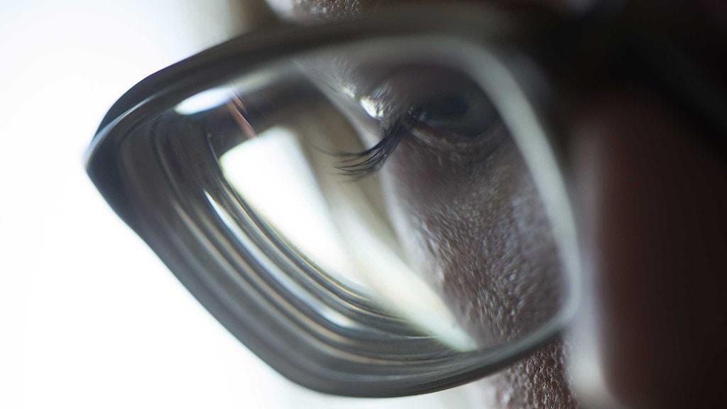 Kvinna med glasögon. Foto: Fredrik Sandberg/TT.