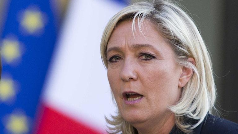 Front Nationals partiledare Marine Le Pen. Foto: Jacques Brinon / TT