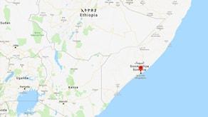 Mogadishu, Somalia, på kartan.