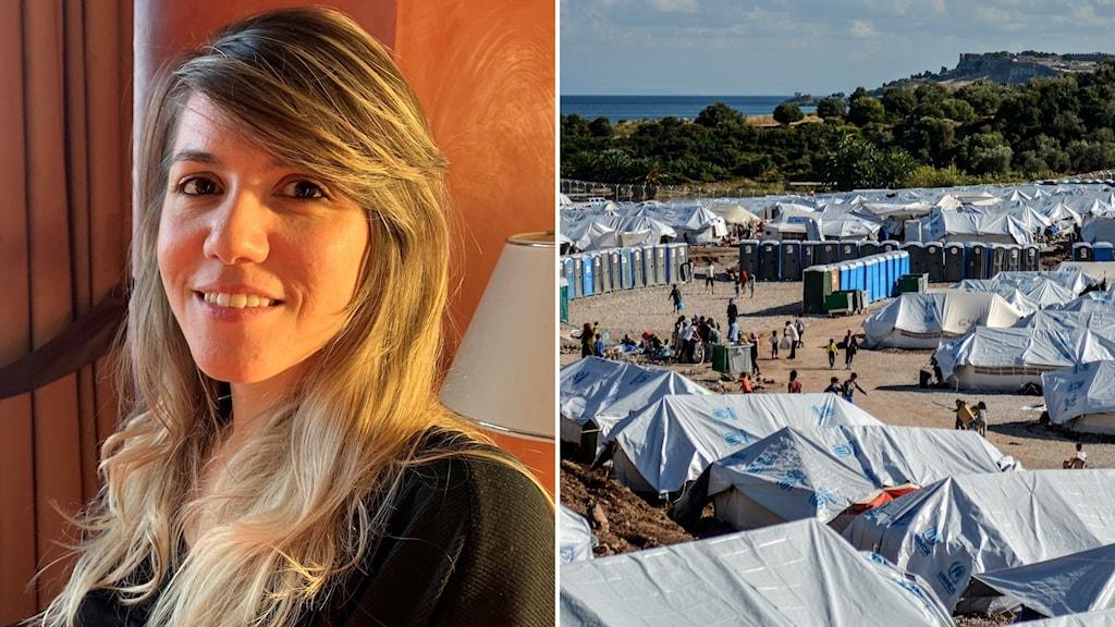 Advokaten Eli Kriona och ett flyktingläger på ön Lesbos, Grekland.