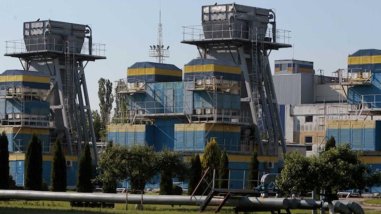 Den ukrainska gasanläggningen Uzhgorod.