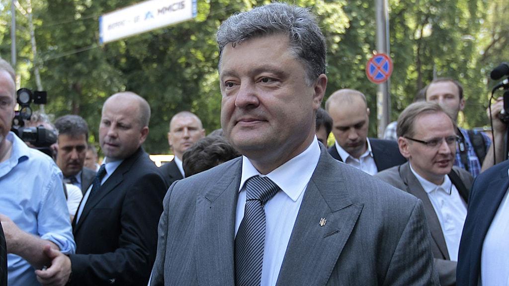 Ukrainas president Porosjenko. Foto: Sergei Chuzavkov/TT.