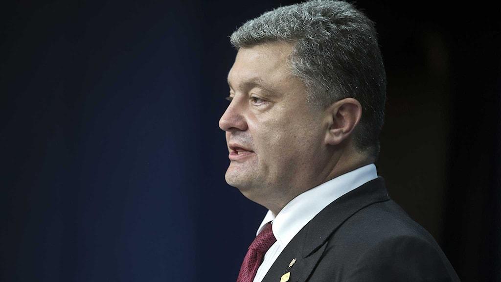Ukrainas president Petro Porosjenko. Foto: Michel Euler/TT.