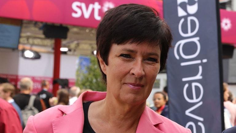 Mona Sahlin i Almedalen 2014. Foto: Sveriges Radio
