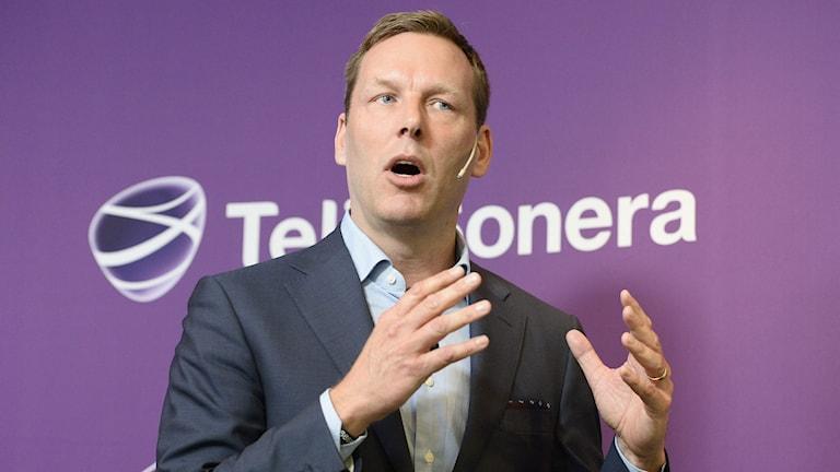 Telia Soneras vd Johan Dennelind. Foto: TT.