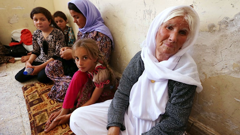 Yazidisk familj