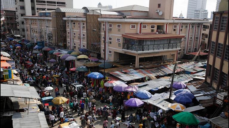 Huvudstaden Lagos i Nigeria. Foto: TT