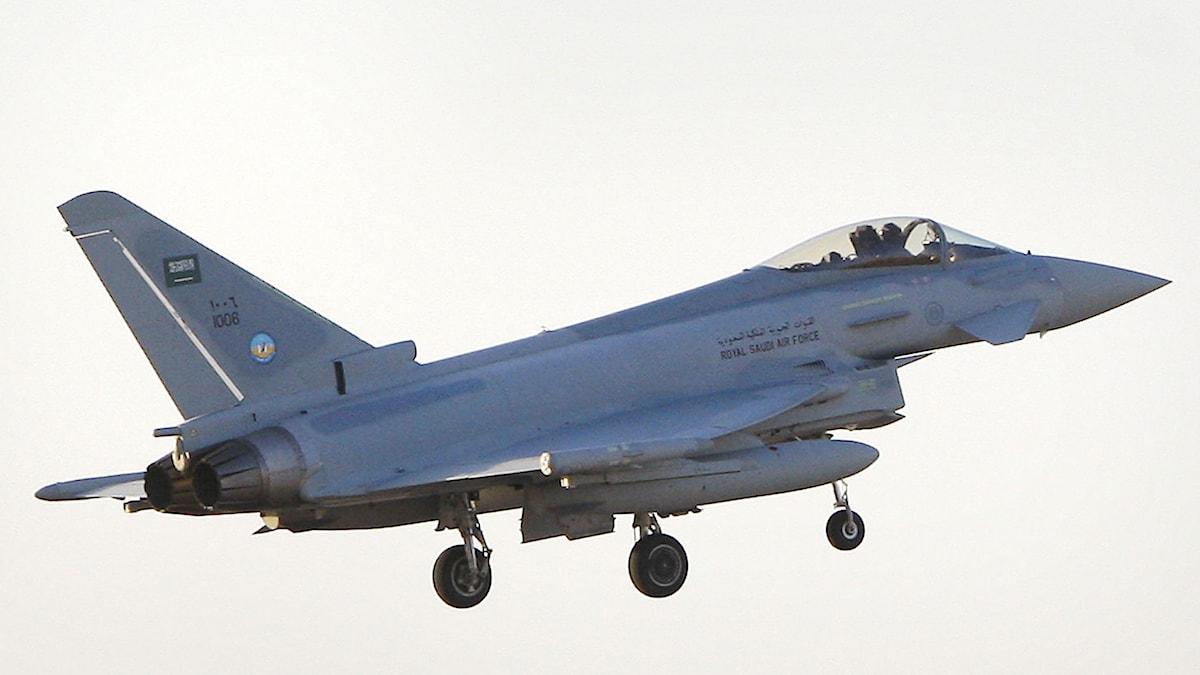 Ett saudiskt stridsflygplan