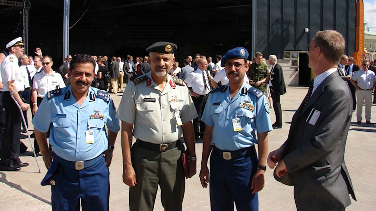 Generalê Siûdî Gormollah Al-Zaharani fermî li Swêdê ye. Wêne: Privat