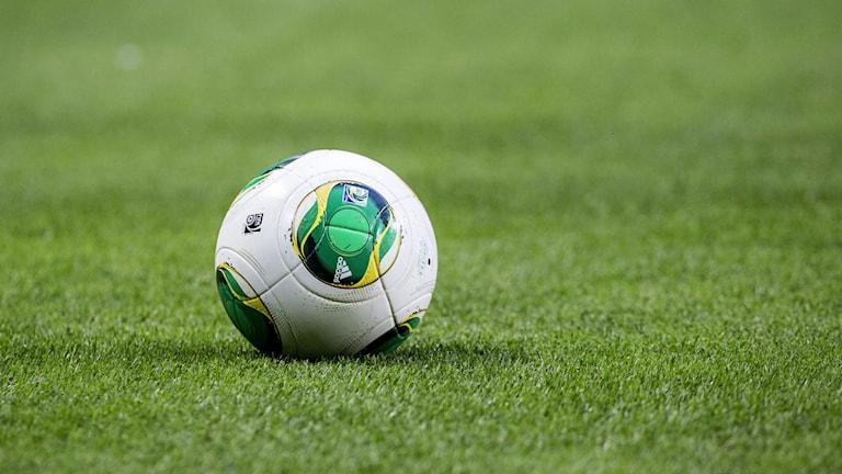 En fotboll på en konstgräsplan.  Foto: Christine Olsson /TT