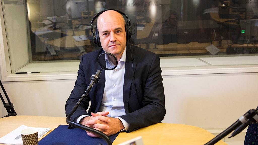 Fredrik Reinfeldt. Foto: Mattias Ahlm / Sveriges Radio