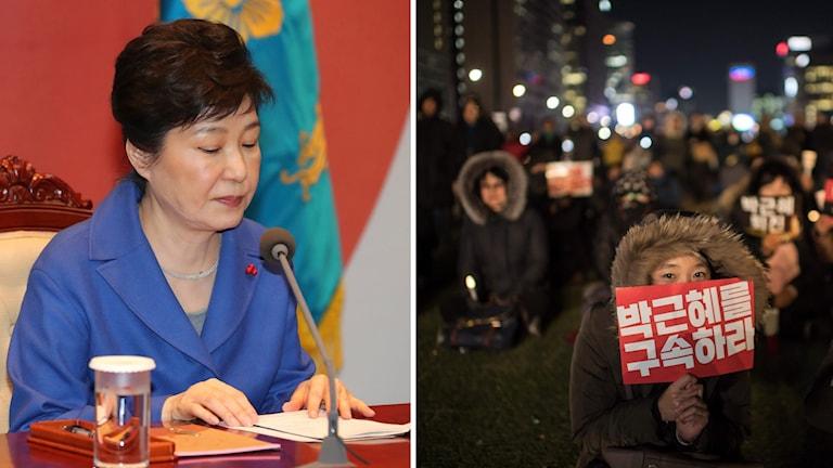 Park Geun-hye har stängts av