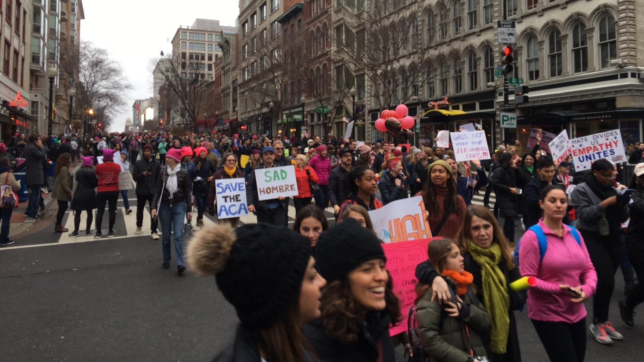 Demonstrationer mot trump aven i sverige